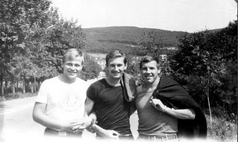 Аркадий Загуменов, я, Павел Березовский, осень 1985 года